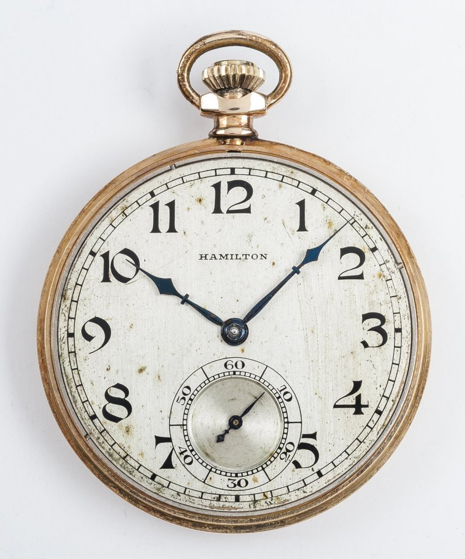 Hamilton 14K 17J Grade 916 Pocket Watch - 3