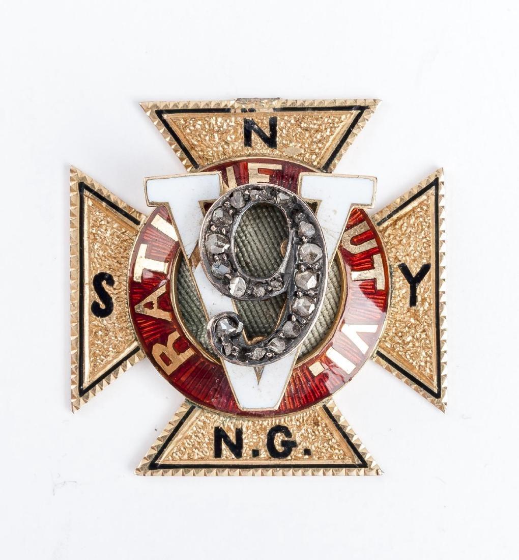 18K NY National Guard Medal General Wm. Seward