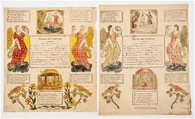 2 Heinrich Sage Reading Printed Frakturs