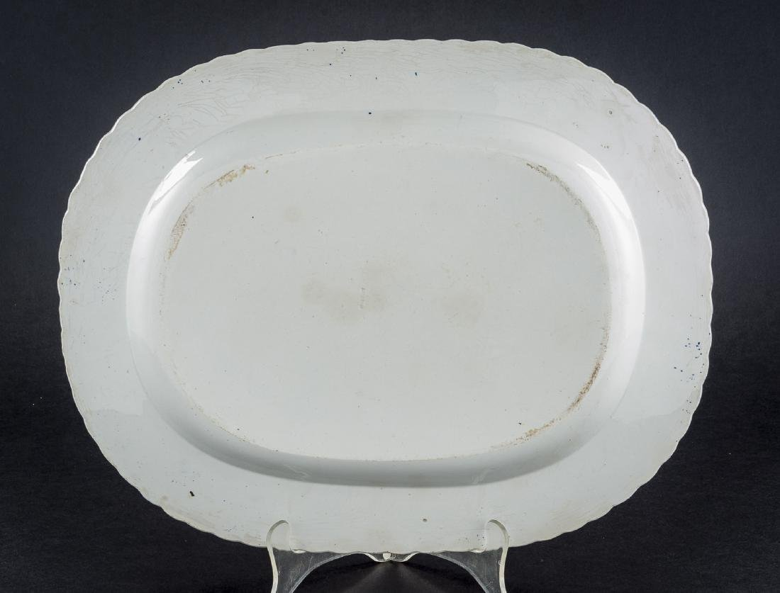3 Feather Edge Pearlware Platters - 10