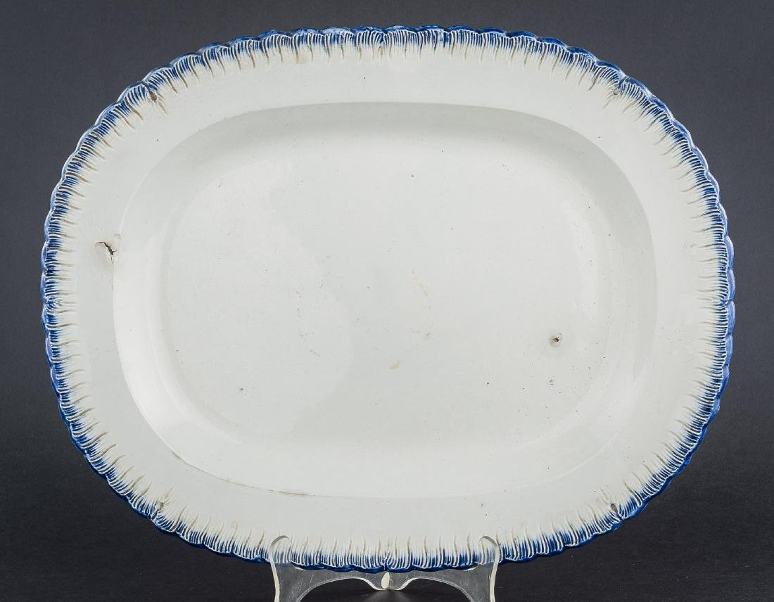 3 Feather Edge Pearlware Platters - 3