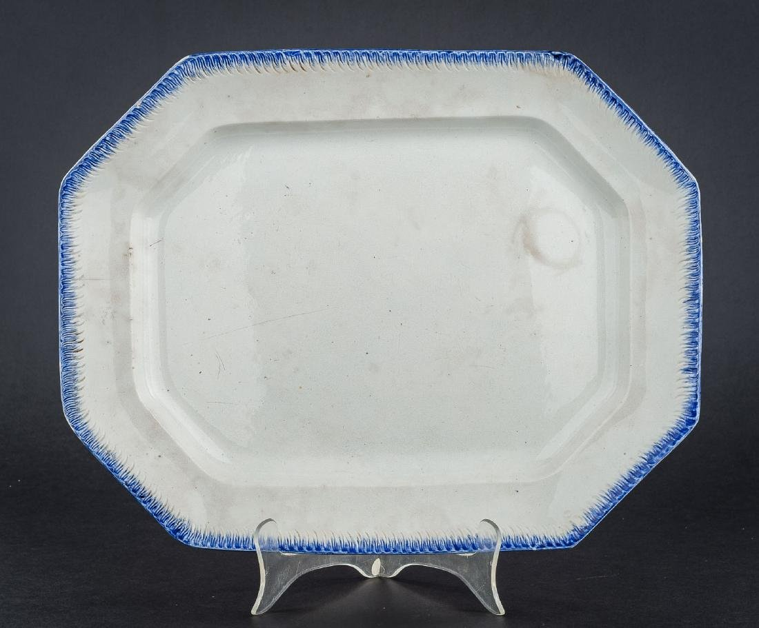 3 Feather Edge Pearlware Platters - 7
