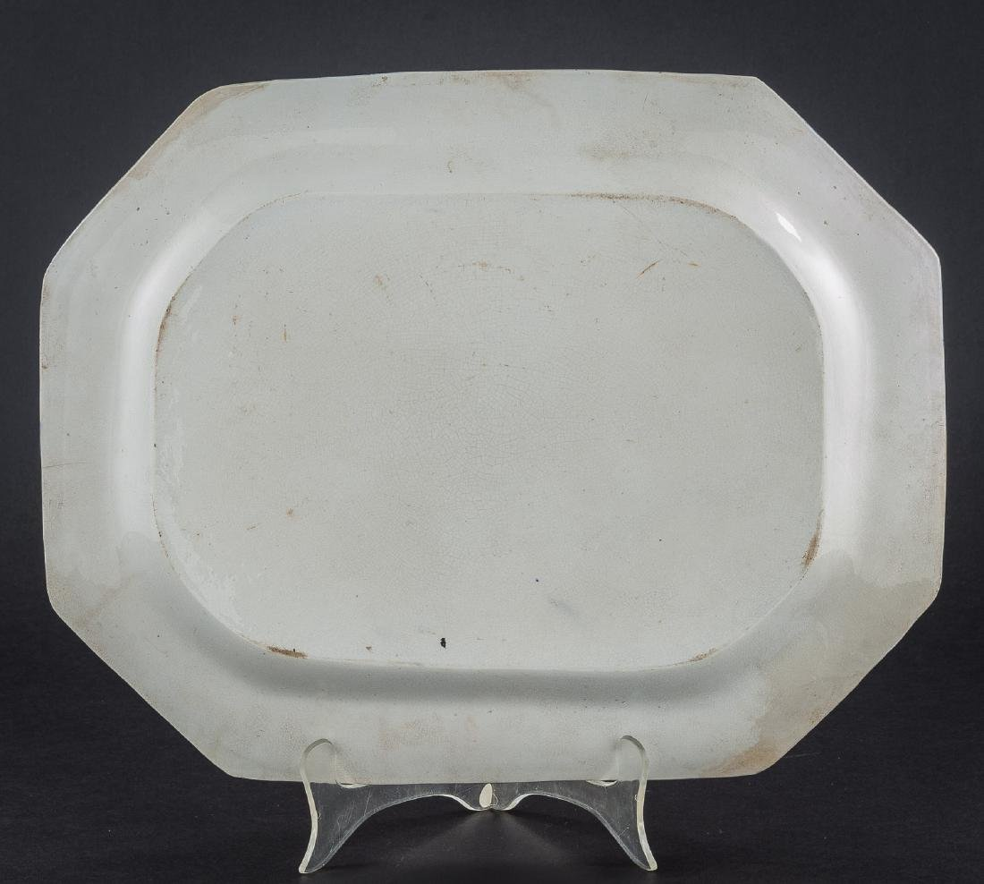 3 Feather Edge Pearlware Platters - 8