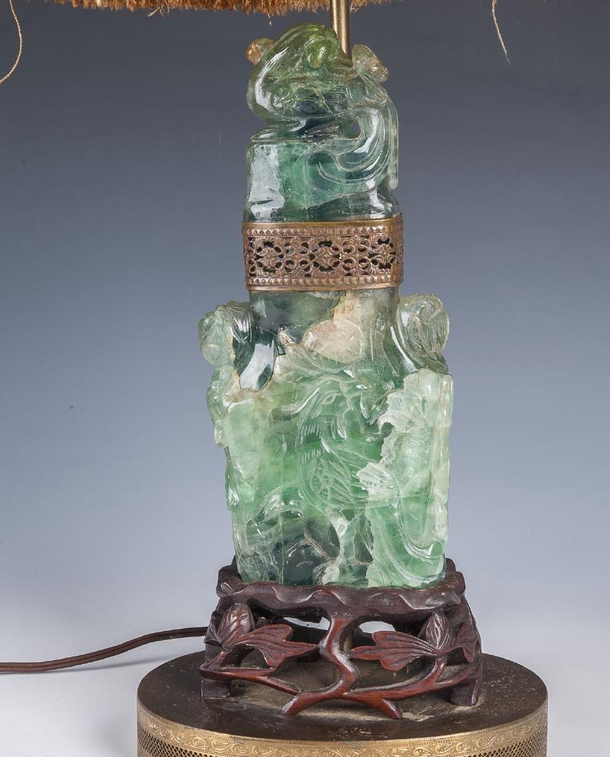 Chinese Jade Covered Urn - 2