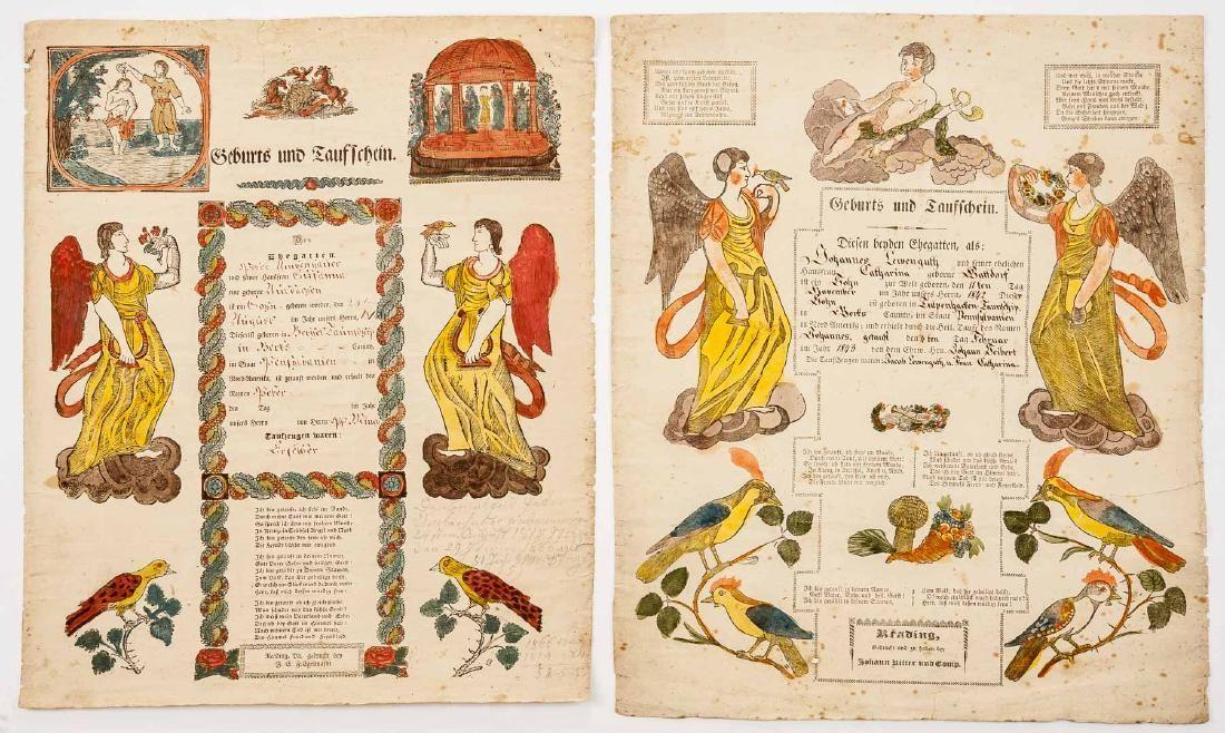 2 Reading Printed Frakturs Incl Ritter & Egelmann