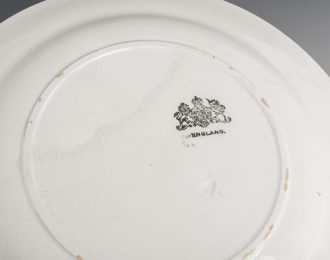 54 Pc Late Adams Rose Ironstone Dish Set - 3