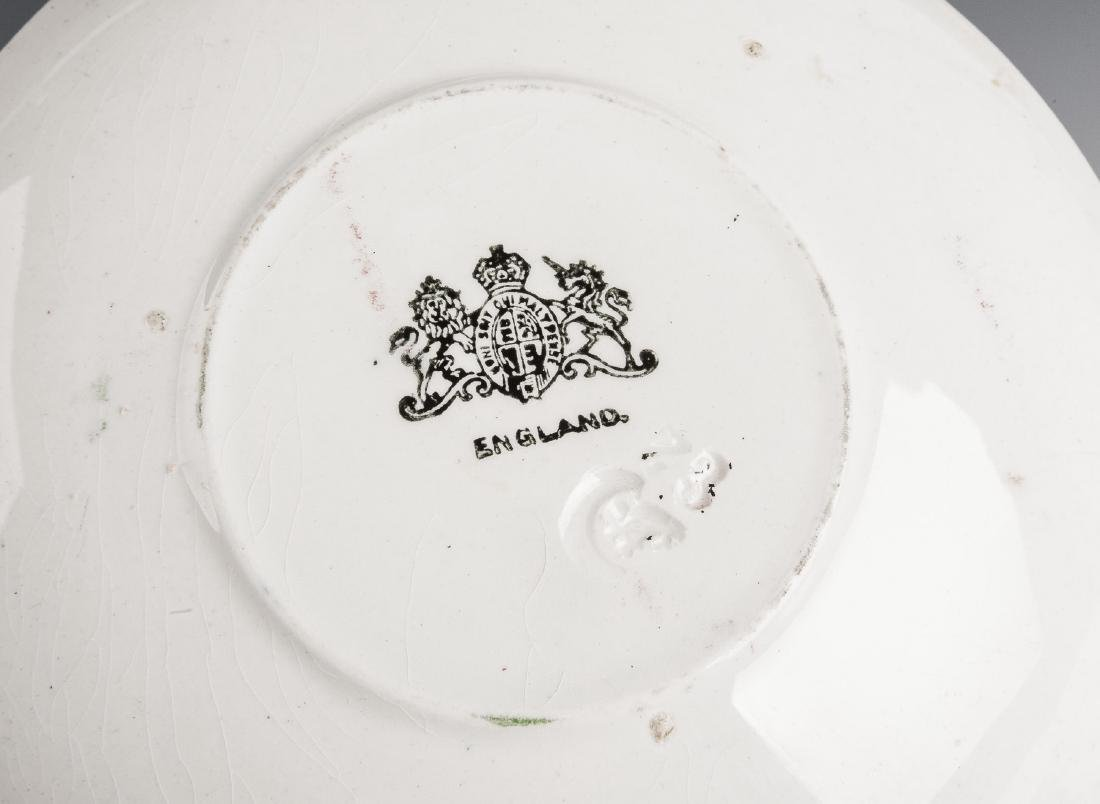 54 Pc Late Adams Rose Ironstone Dish Set - 4