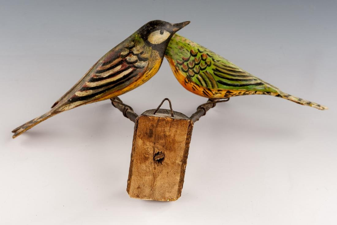 8 Folk Art Carved Bird Groupings - 15
