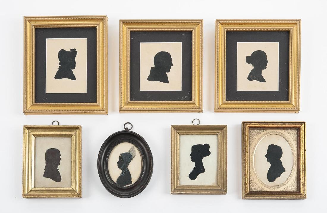 Collection of 7 19th C Silhouettes