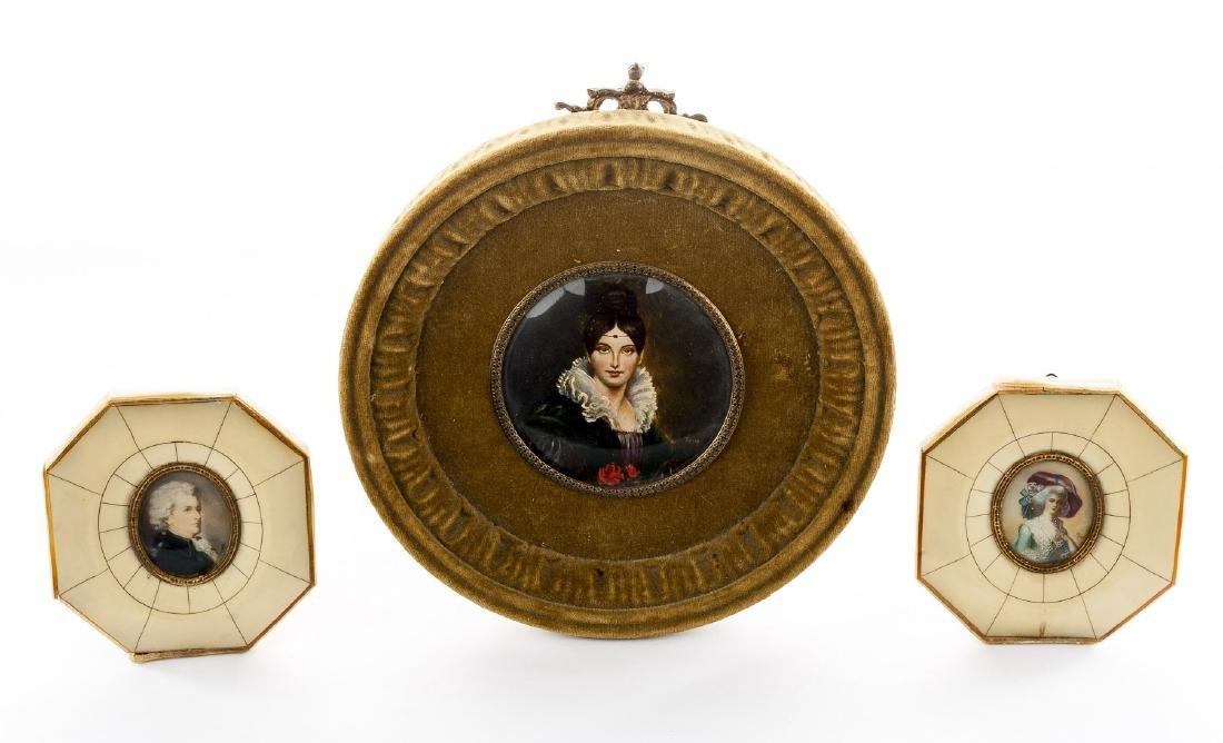 3 Miniature Portraits