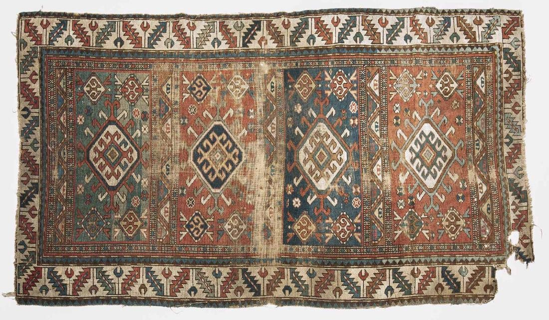 Antique Caucasian Kazak Area Rug