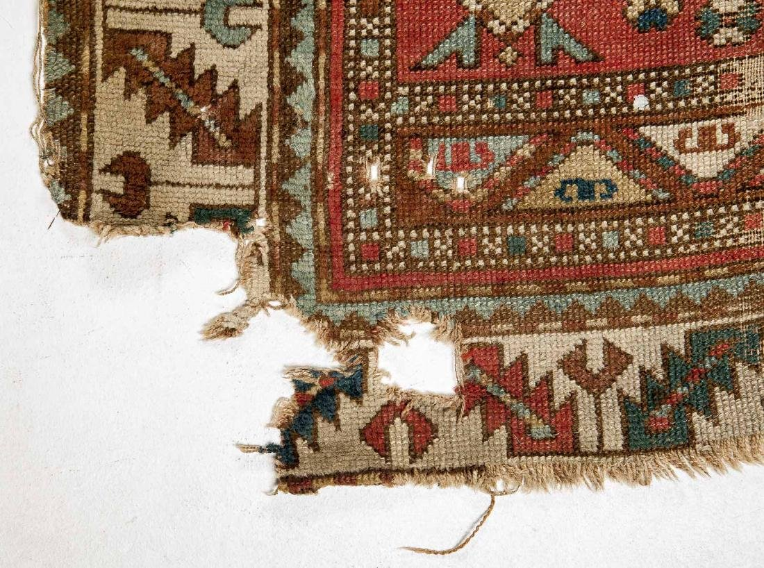 Antique Caucasian Kazak Area Rug - 2