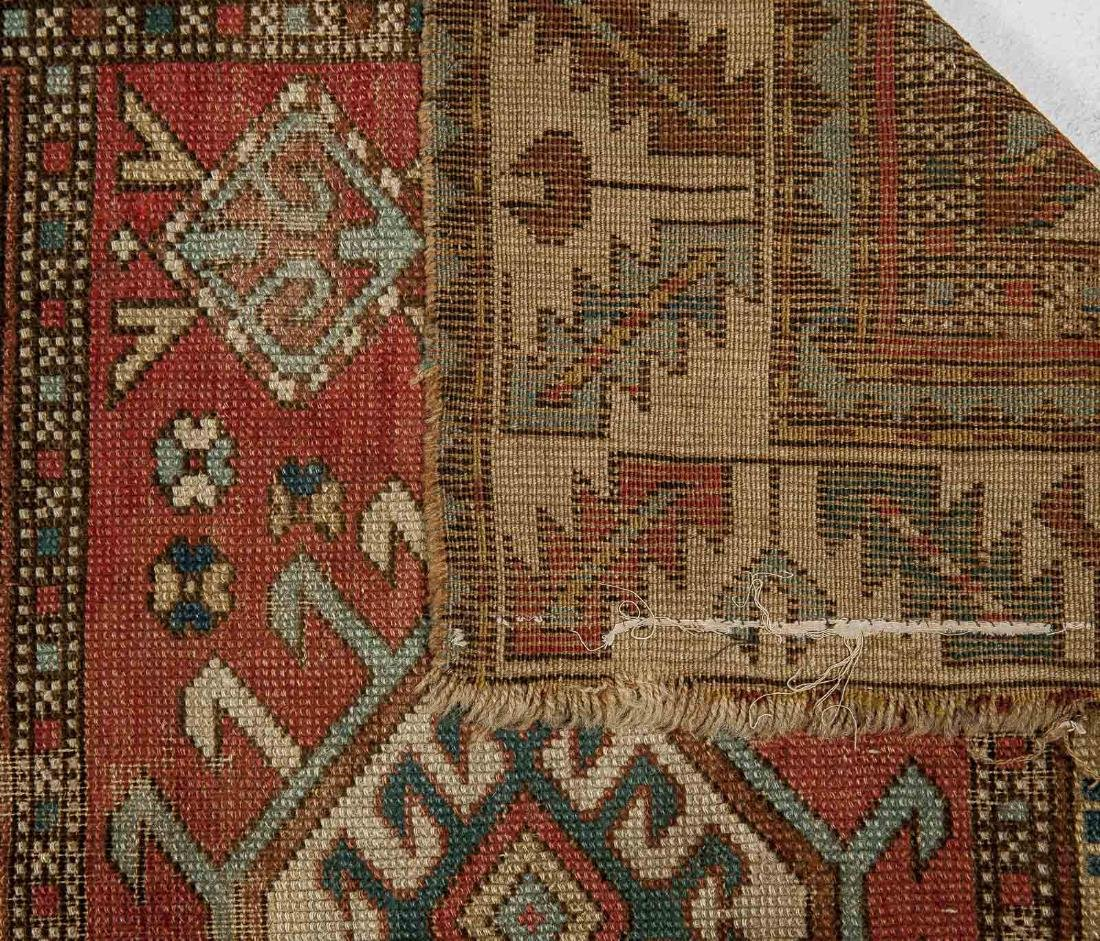 Antique Caucasian Kazak Area Rug - 3