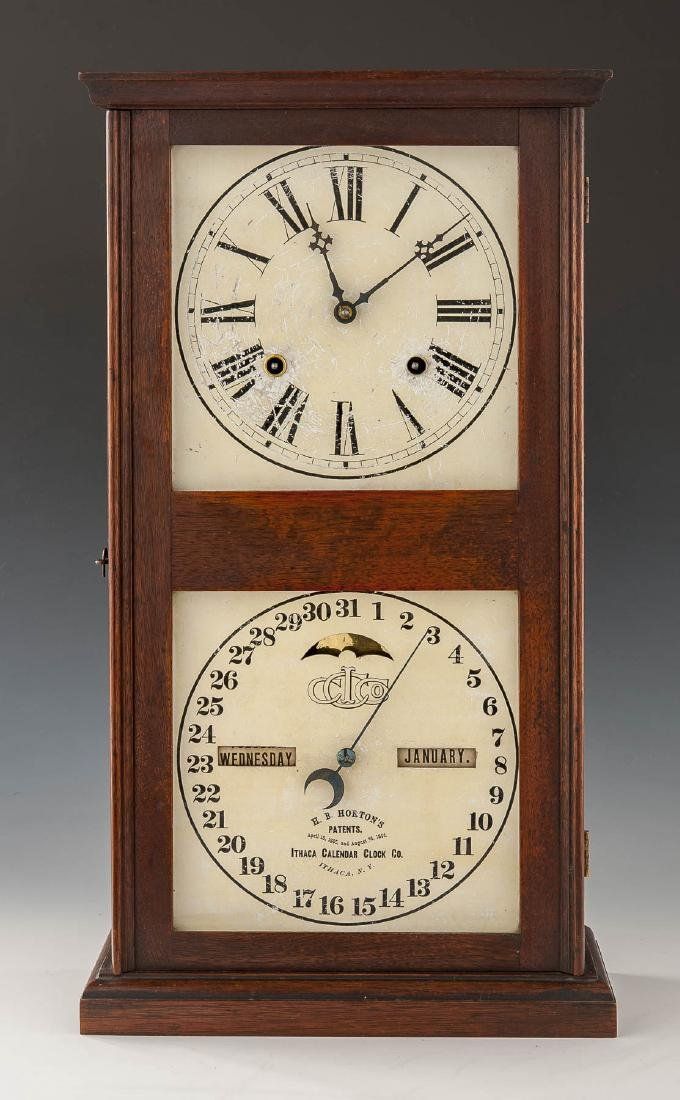 H.B. Horton Patent Ithaca Calendar Clock #10