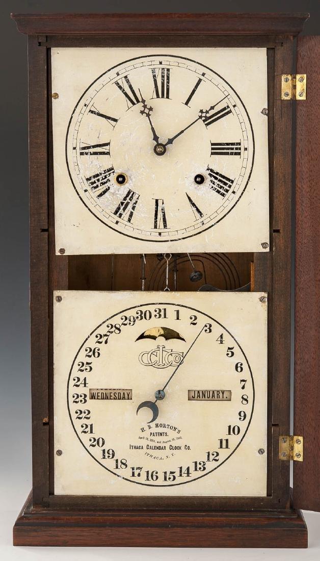 H.B. Horton Patent Ithaca Calendar Clock #10 - 2