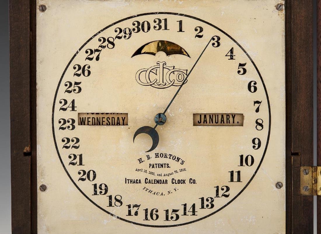H.B. Horton Patent Ithaca Calendar Clock #10 - 4