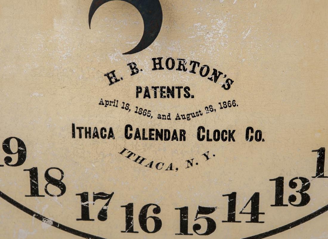 H.B. Horton Patent Ithaca Calendar Clock #10 - 5