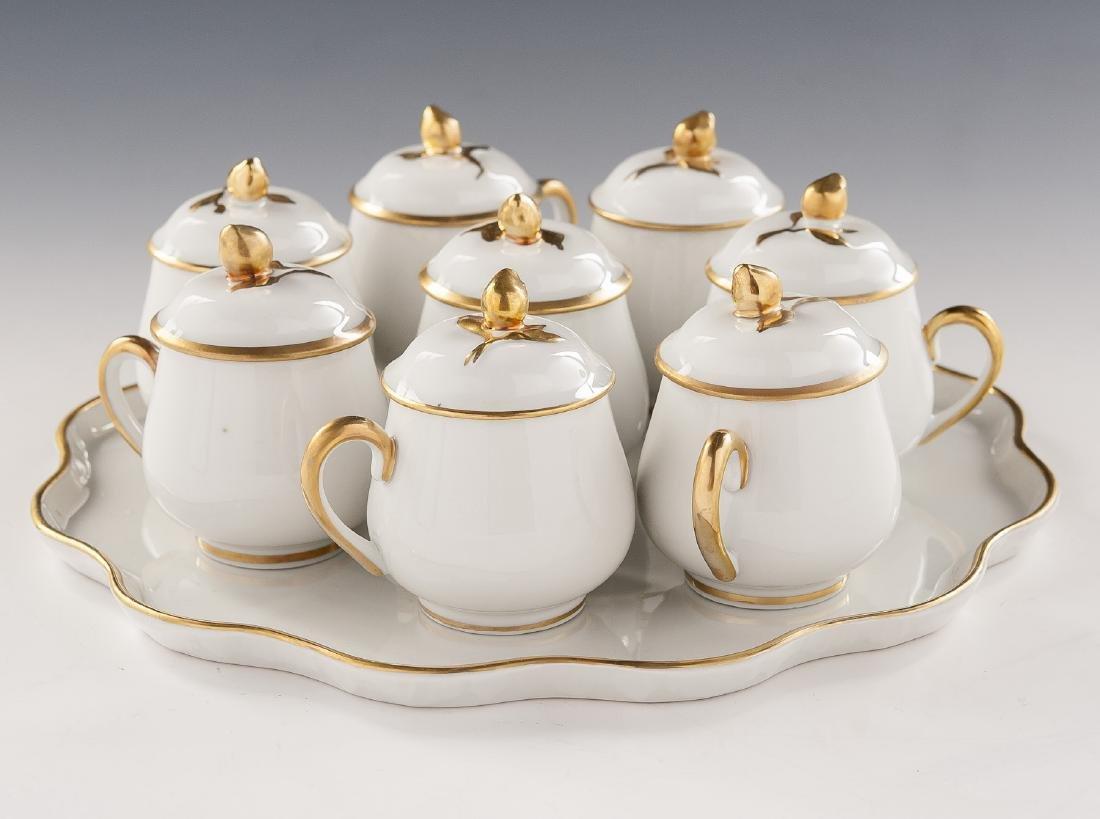 9 Pc Limoges Pot de Crème Set