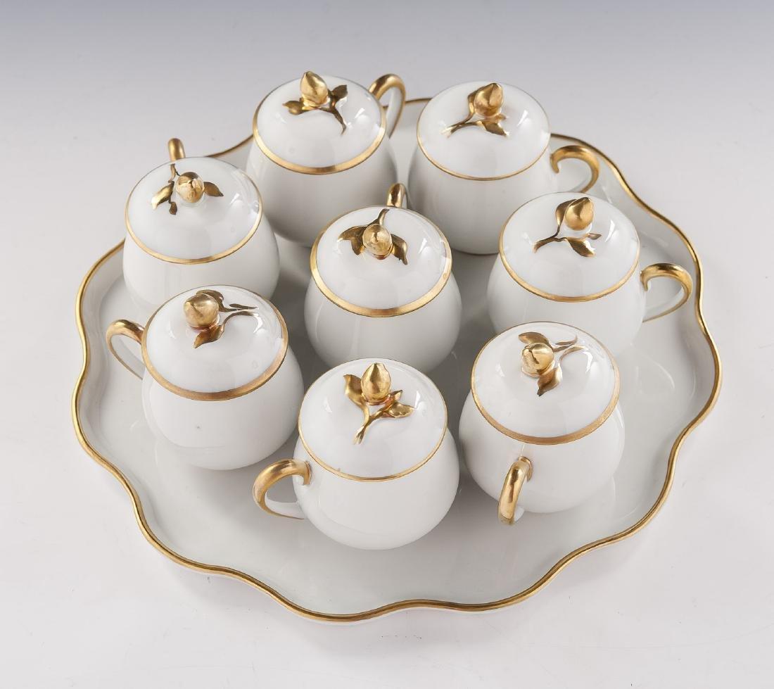 9 Pc Limoges Pot de Crème Set - 2