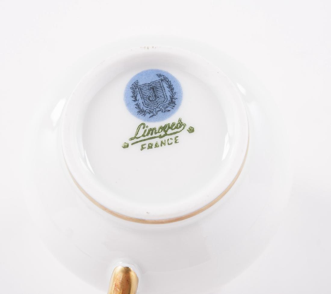 9 Pc Limoges Pot de Crème Set - 6