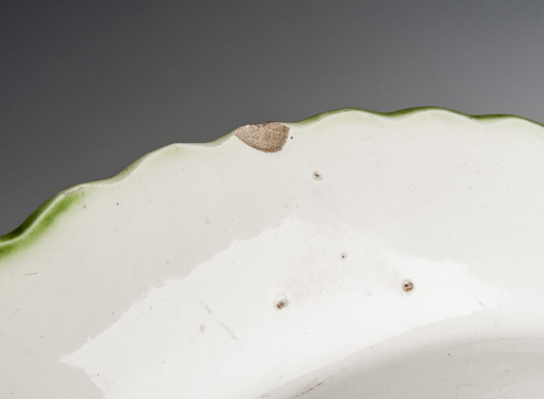 3 Pcs Green Feather Edge Pearlware - 5