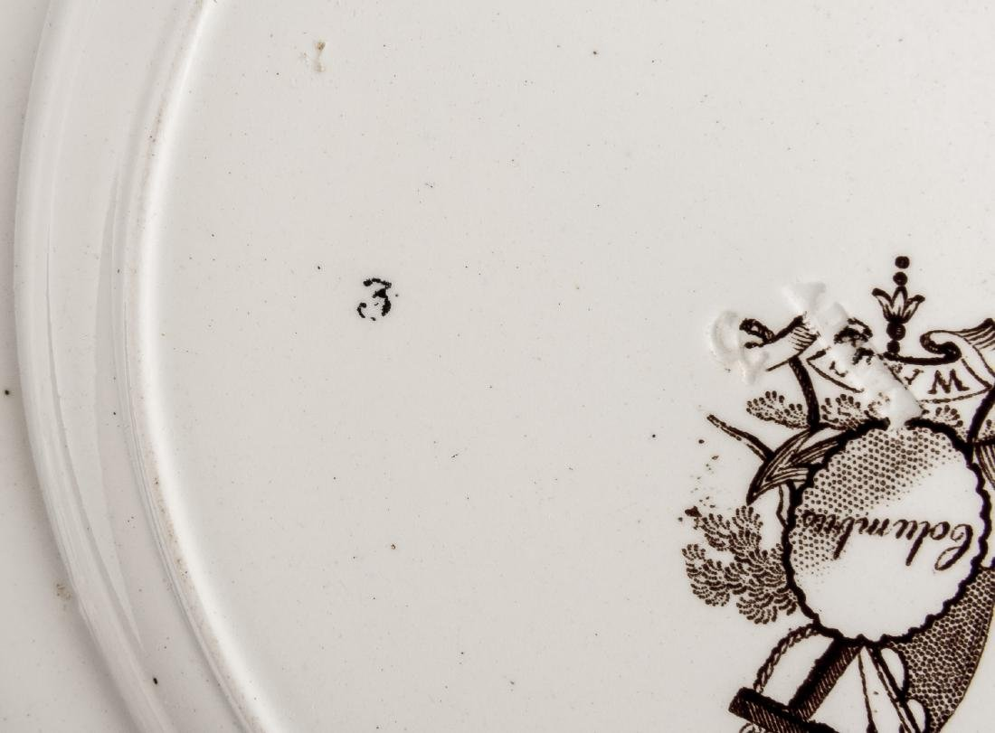 5 Staffordshire Transferware Plates Incl Mulberry - 3