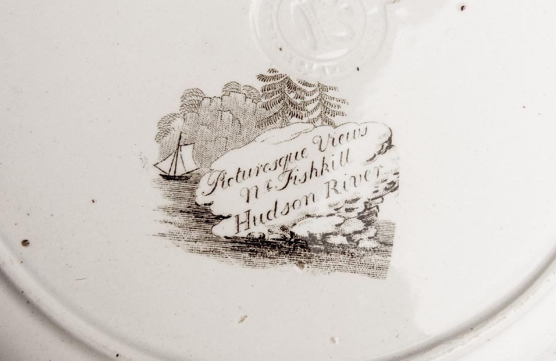 5 Staffordshire Transferware Plates Incl Mulberry - 7