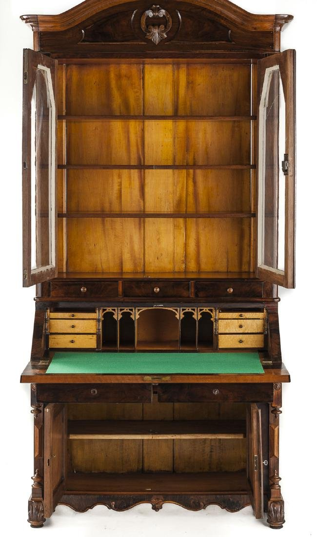 Desk & Bookcase/Escritoire Signed Henkels, Phila. - 2