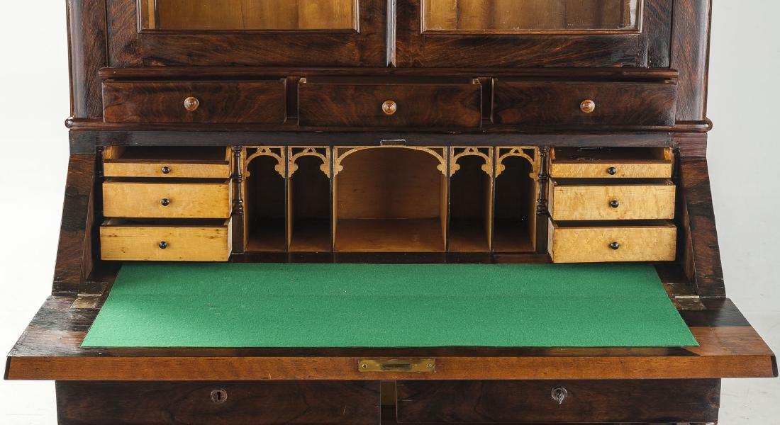 Desk & Bookcase/Escritoire Signed Henkels, Phila. - 3