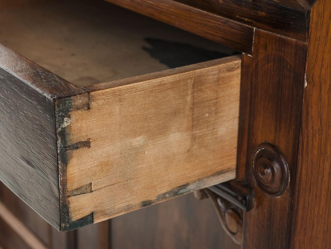 Desk & Bookcase/Escritoire Signed Henkels, Phila. - 5