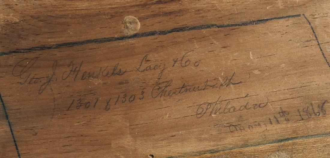 Desk & Bookcase/Escritoire Signed Henkels, Phila. - 9