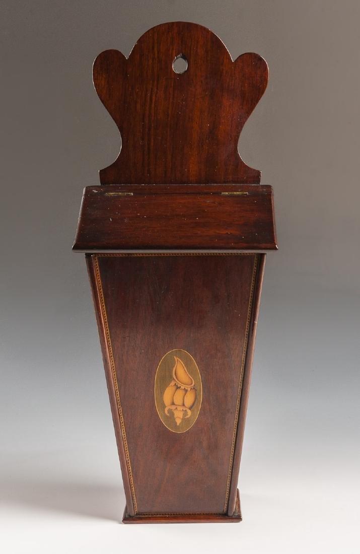 Georgian Inlaid Candle Box - 2