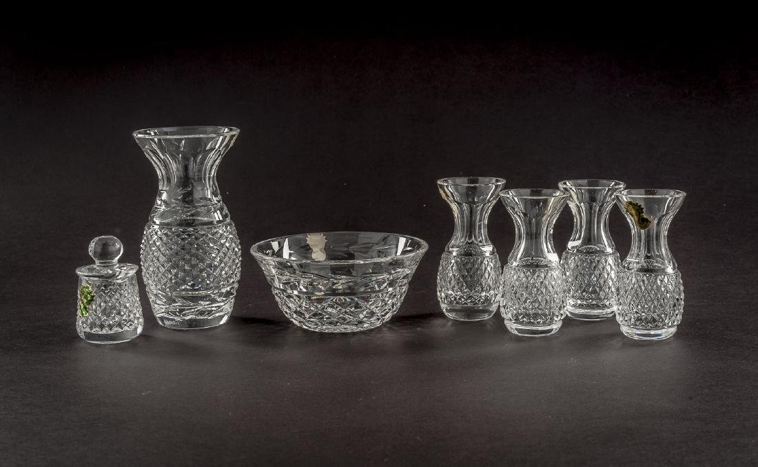 7 Pcs Waterford Crystal Incl Vases