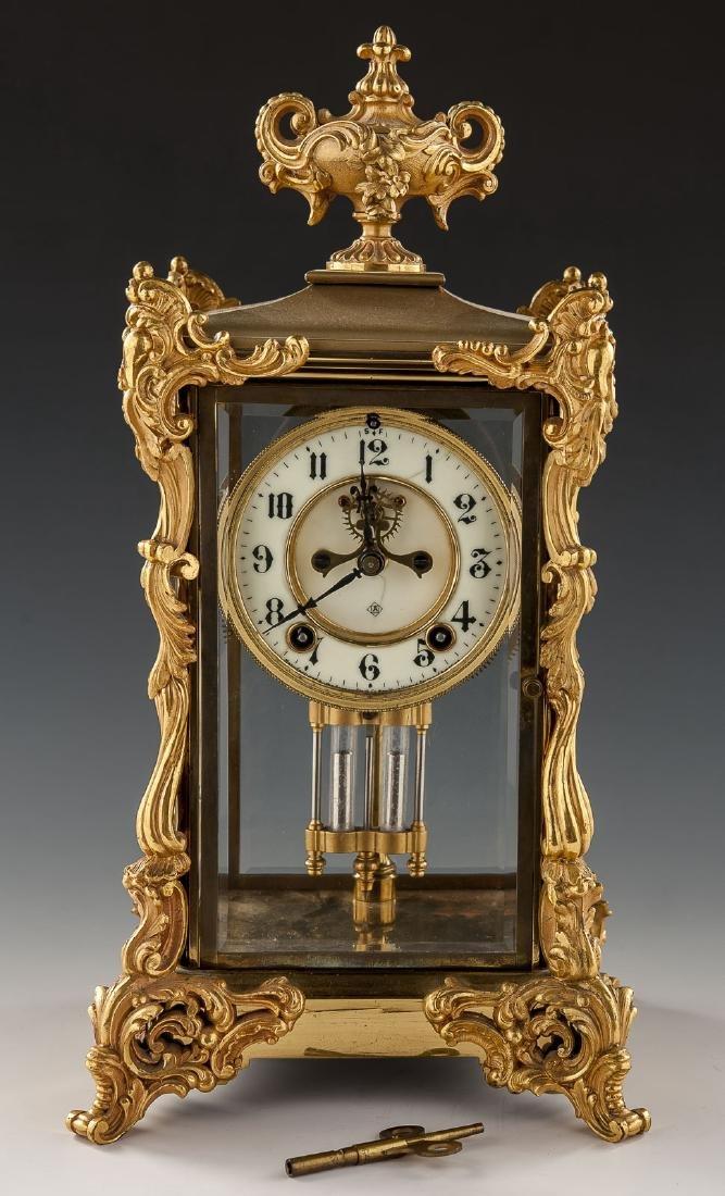 Ansonia Crystal Regulator Mantle Clock
