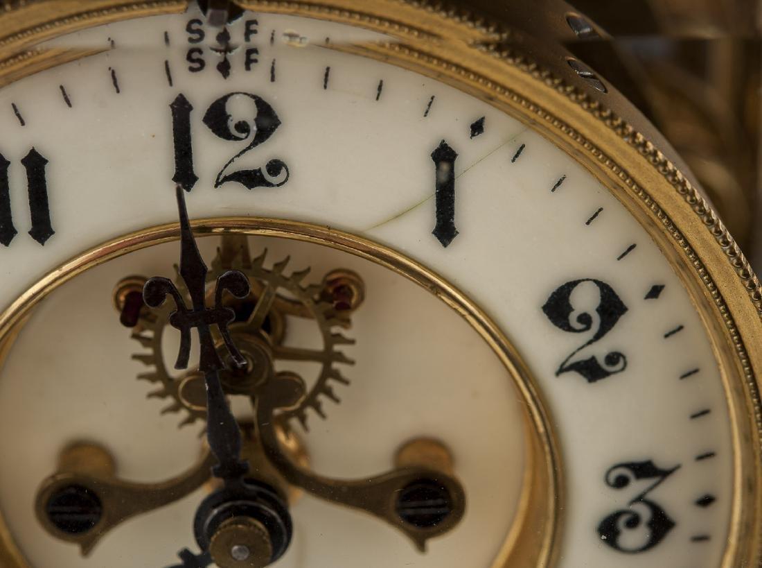 Ansonia Crystal Regulator Mantle Clock - 2