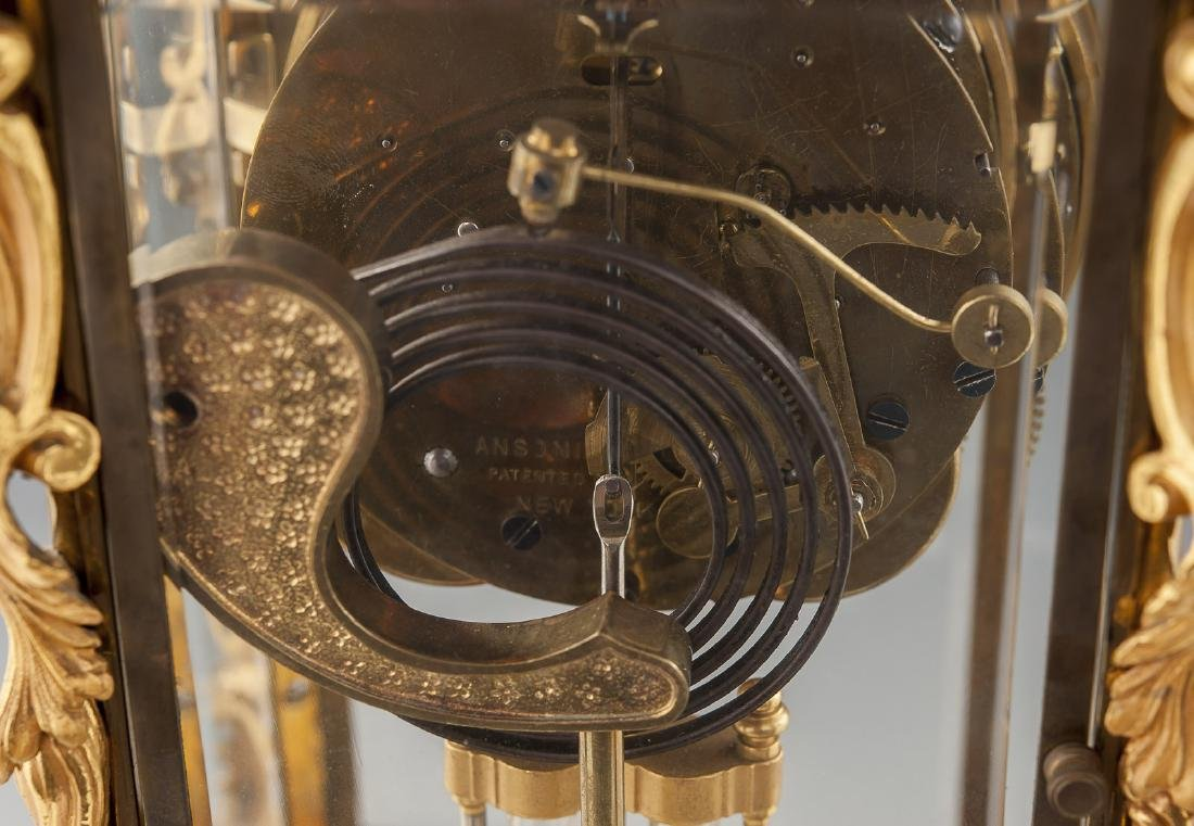 Ansonia Crystal Regulator Mantle Clock - 4