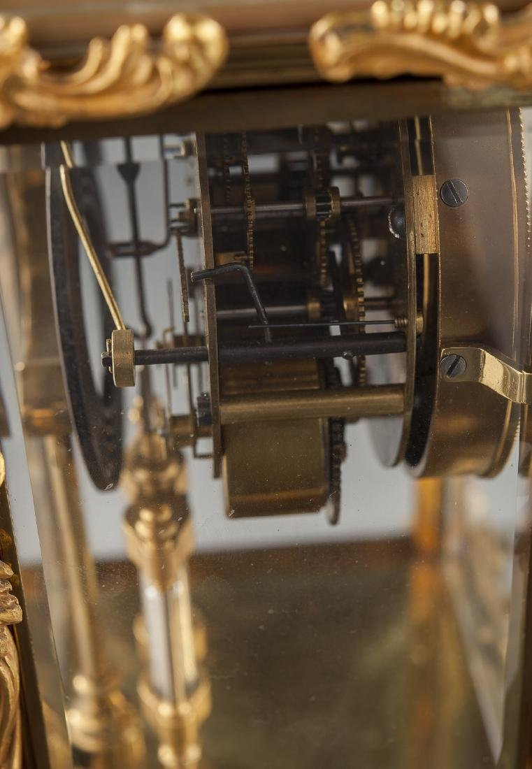 Ansonia Crystal Regulator Mantle Clock - 5