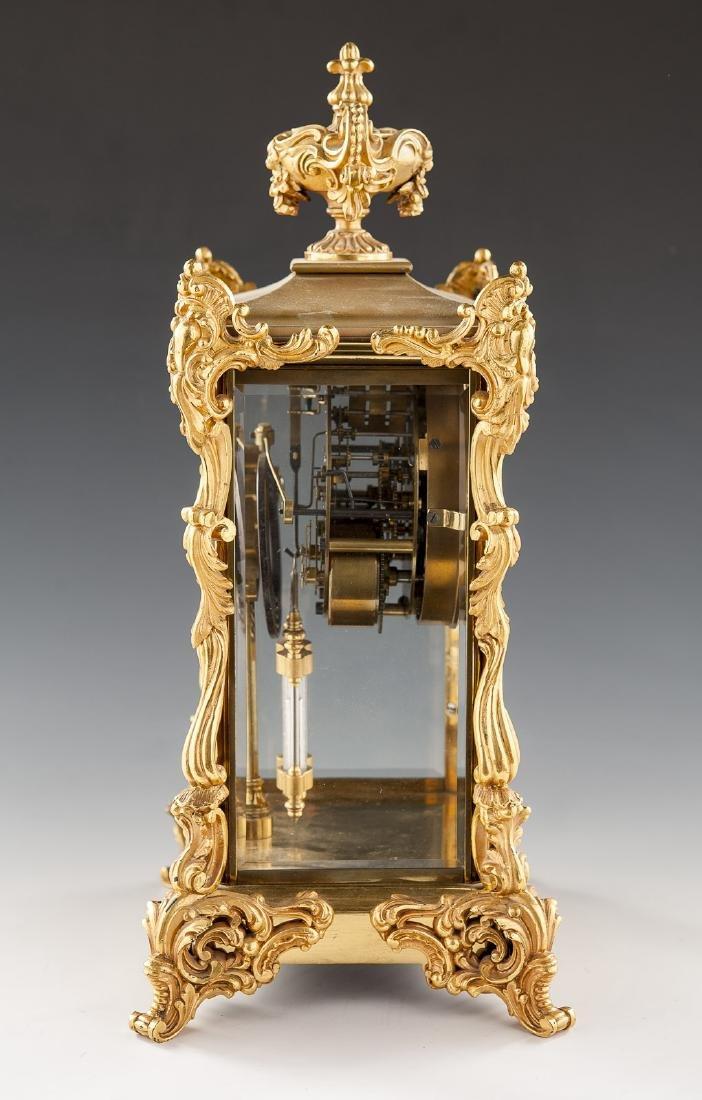 Ansonia Crystal Regulator Mantle Clock - 6
