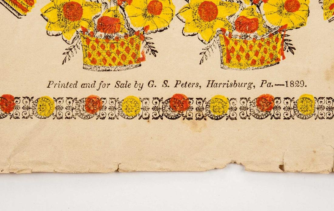 2 G.S. Peters Harrisburg, PA Printed Frakturs - 3