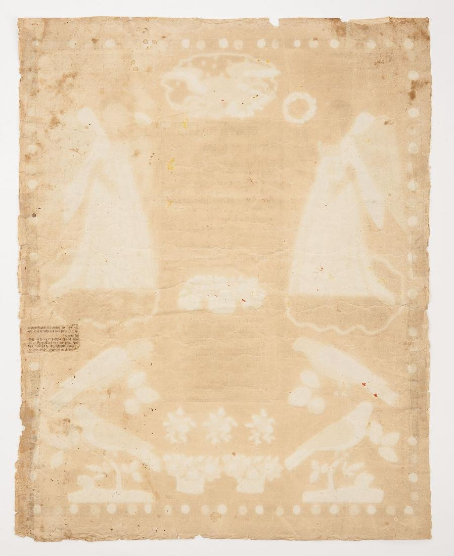 2 G.S. Peters Harrisburg, PA Printed Frakturs - 4