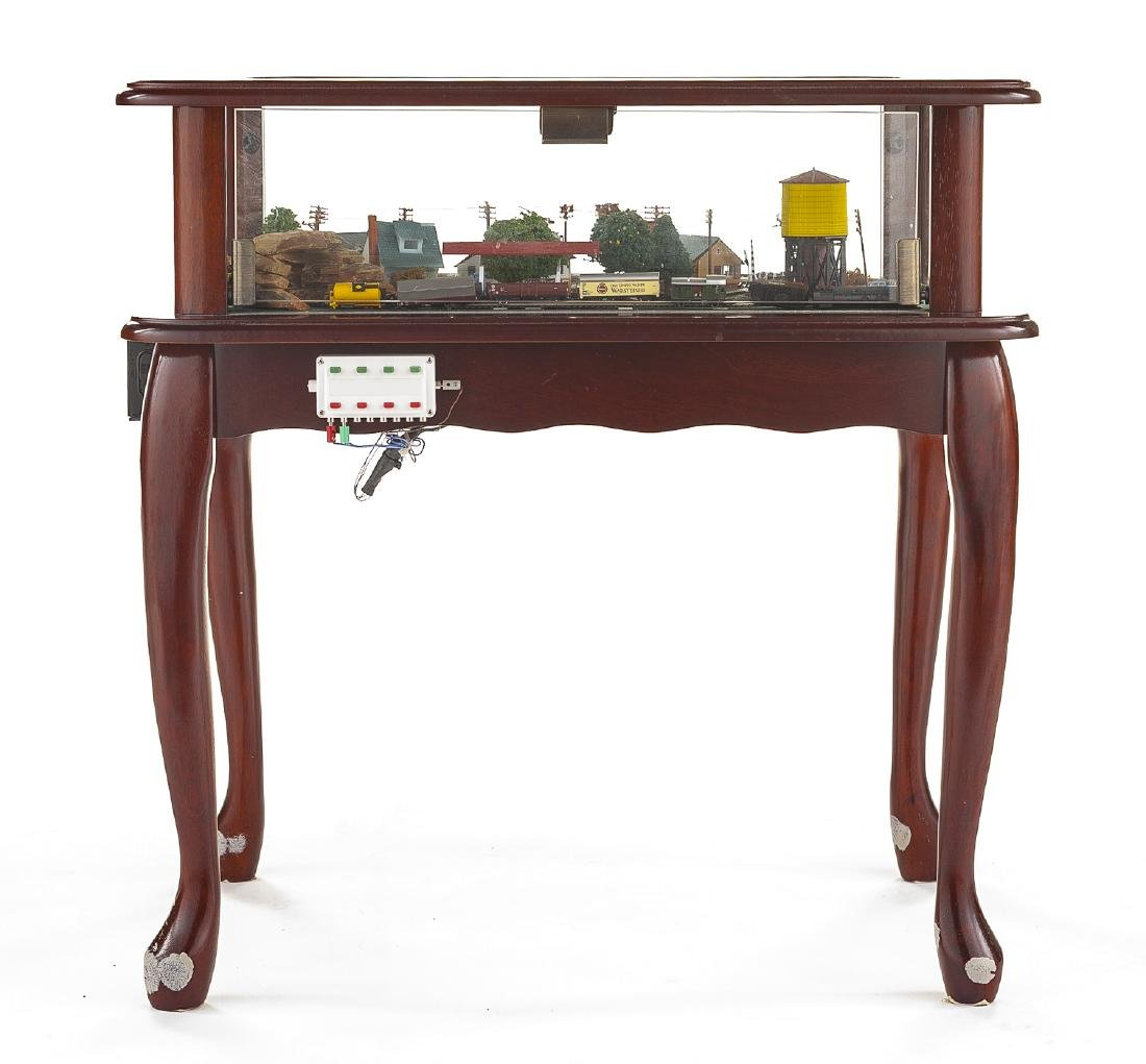 Z Scale Train & Town Diorama Side Table - 2