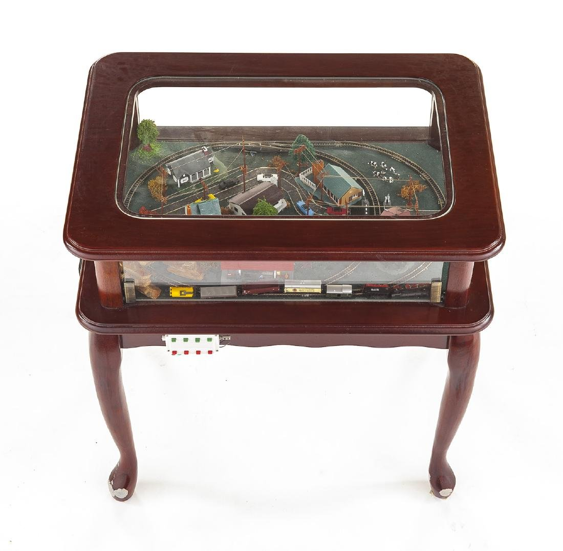 Z Scale Train & Town Diorama Side Table - 3