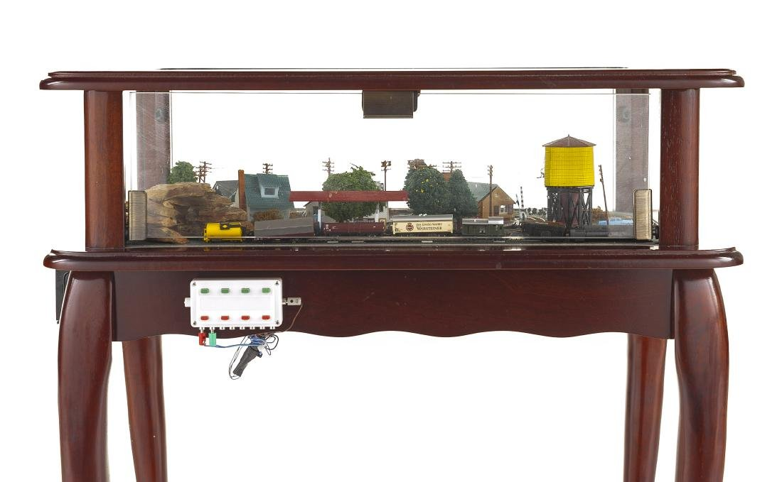 Z Scale Train & Town Diorama Side Table - 4
