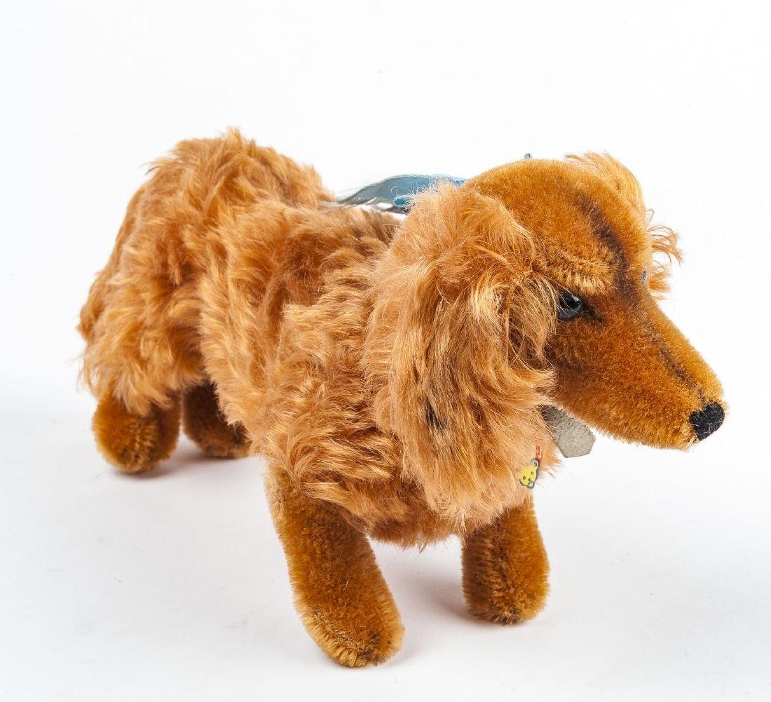 "Steiff Dachshund ""Waldi"" with Button & Tags"
