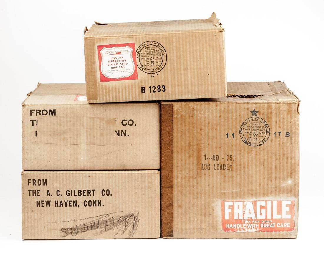 4 Postwar American Flyer Accessories in OBs