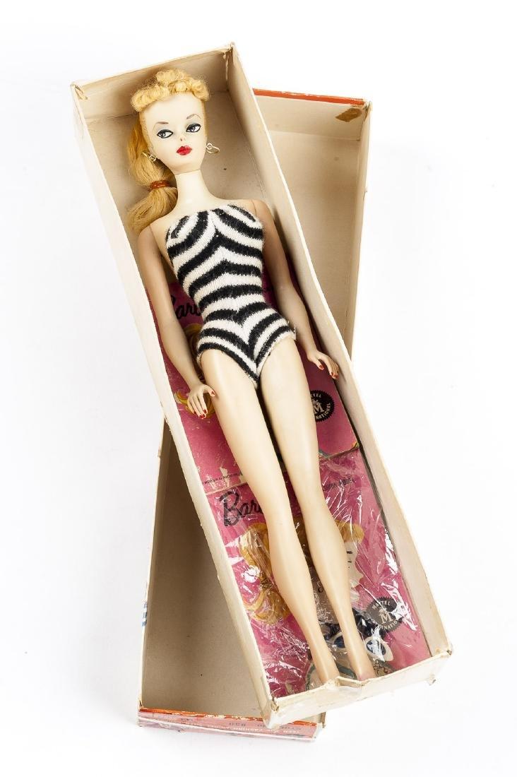 1958 Blonde Mattel #850 Barbie Doll in OB