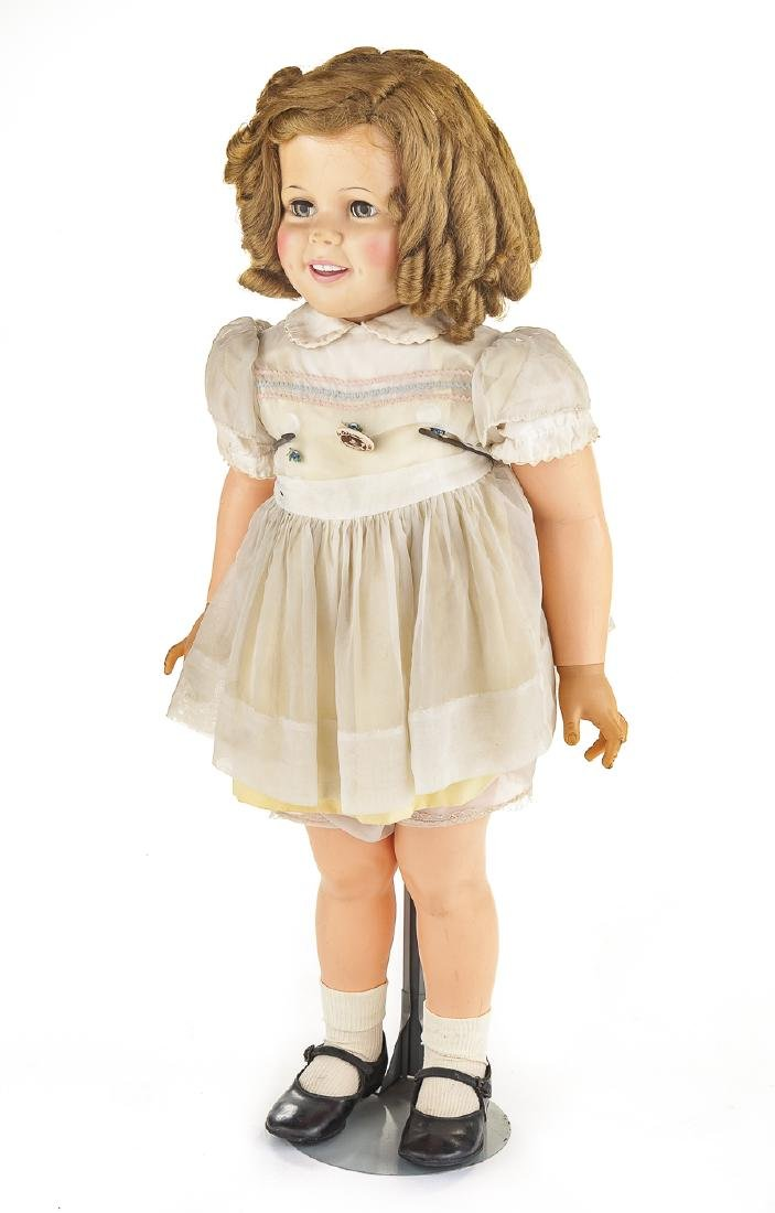 """Ideal 36"""" Vinyl Shirley Temple Playpal Doll"""