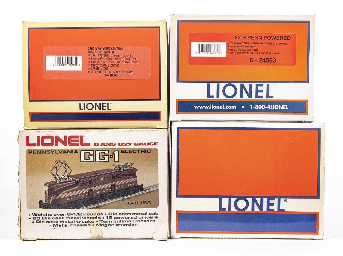 4 Lionel Locomotives in OBs Incl Dash 9