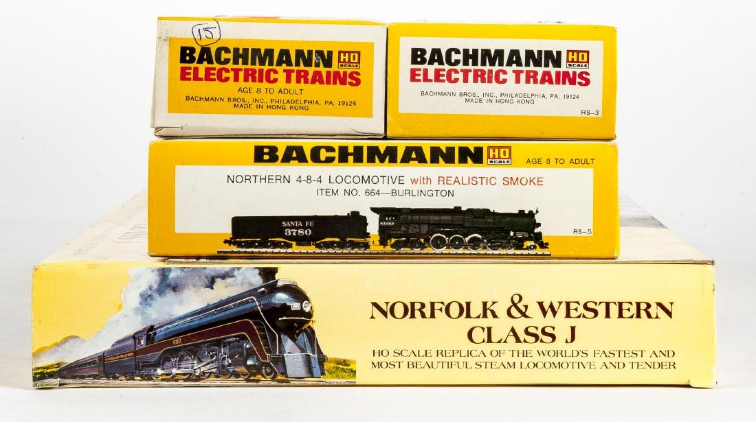 4 Bachmann HO Scale Locomotives in OBs