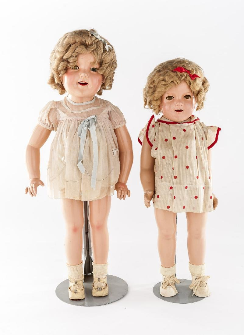 """25"""" & 27"""" Shirley Temple Composition Ideal Dolls"""